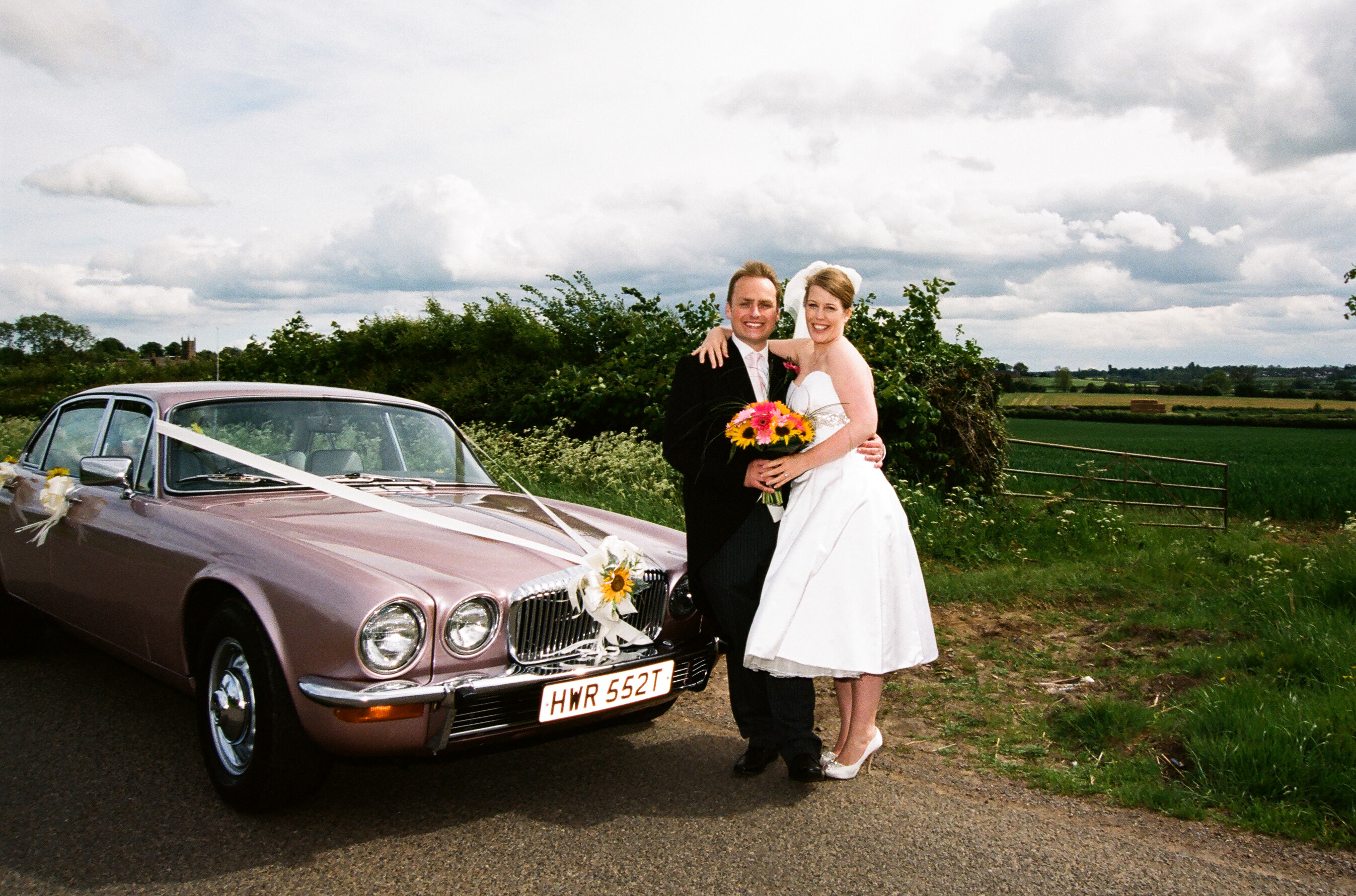 Pink wedding Daimler